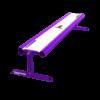 Transformer Rail 6ft bench purple
