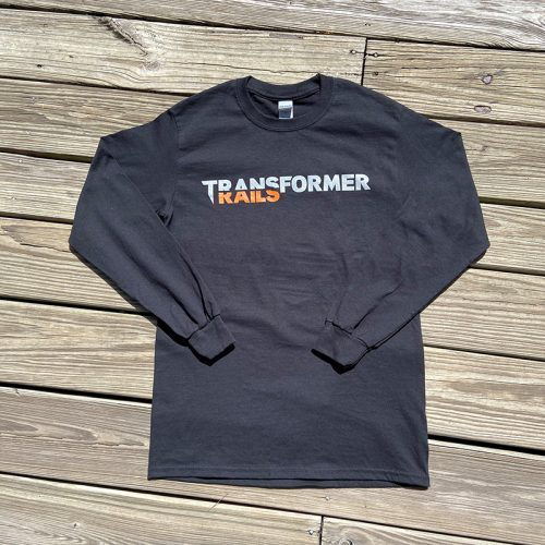Transformer Rails Logo Longsleeve Black Front