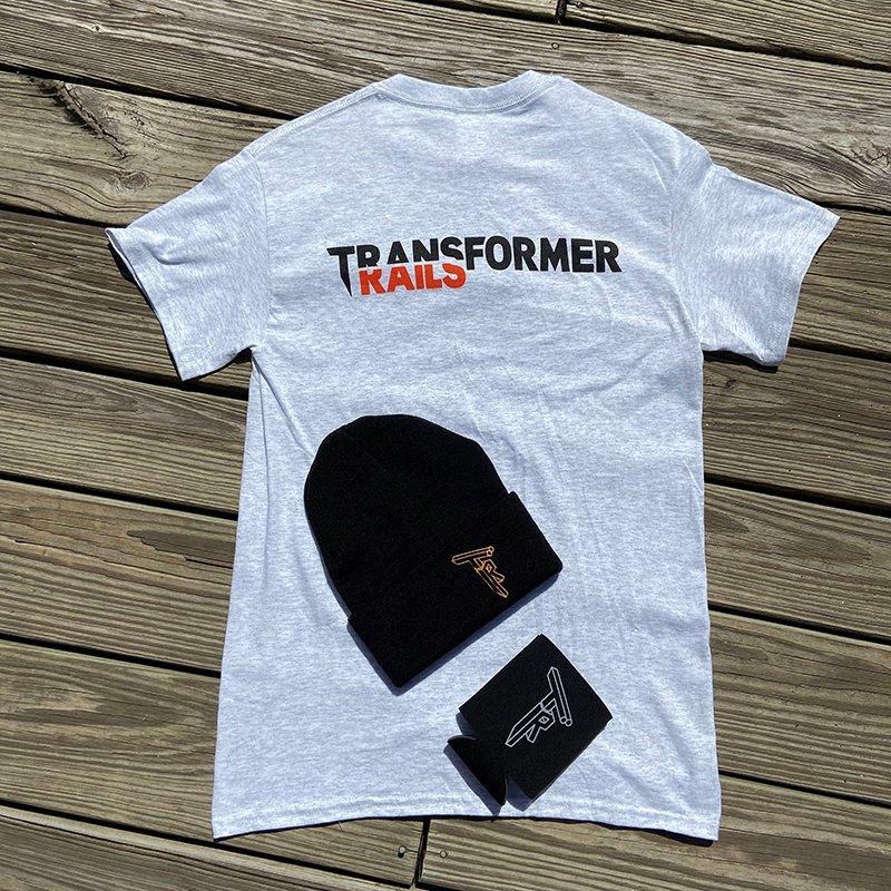 Transformer Rails Shirt Beanie Koozie Combo